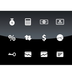 Economy icons on black background vector