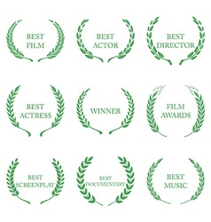 Film awards award wreaths on white background vector