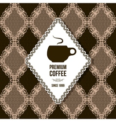 Vintage coffee background vector