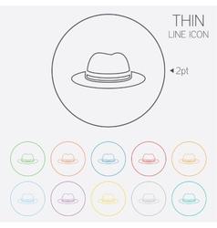 Top hat sign icon classic headdress symbol vector