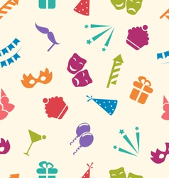 Seamless pattern of party objects wallpaper for vector