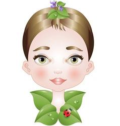 Bio natural makeup vector