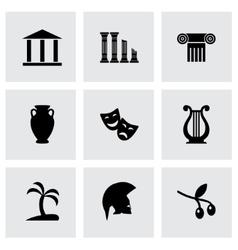 Greece icon set vector