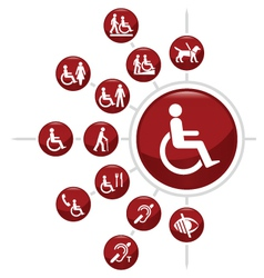 Disability icons vector