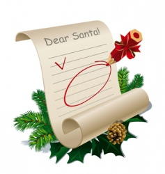 Letter to santa claus vector