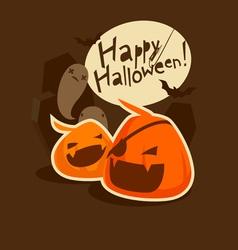 Grinning pumpkins vector