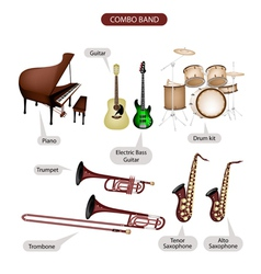Combo brand music equipment vector