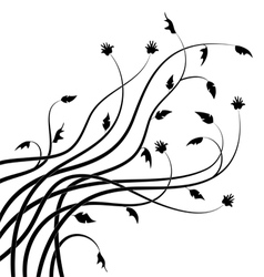 Abstract branch silhouettes vector