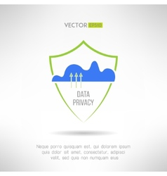 Cloud computing security data protection concept vector