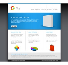 Modern web product template vector