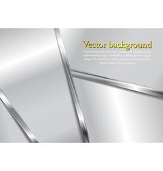 Abstract metallic modern background vector