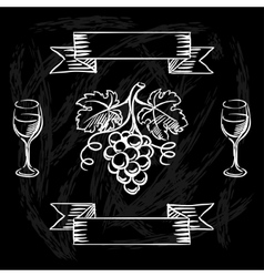 Restaurant or bar wine list on chalkboard vector