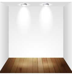 Empty white room vector