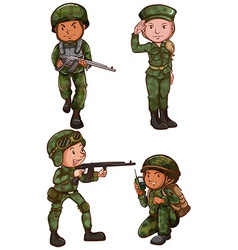 Simple sketches of a soldier vector