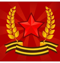Star of victory day vector