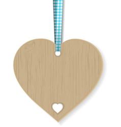 Wooden heart vector
