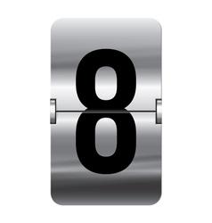Alphabet silver flipboard letters 8 vector
