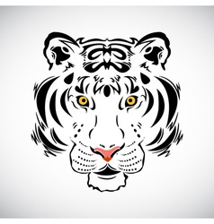 Tiger tattoo stylish ornate vector