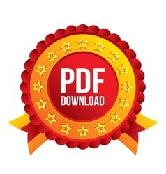 Pdf download icon upload file button vector
