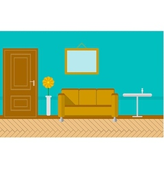 Flat for sitting-room vector
