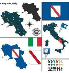Map of campania vector