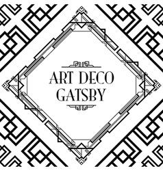 Art deco gatsby vector