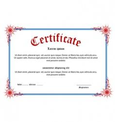 Floral certificate vector