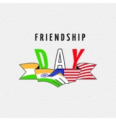 India america friendship vector