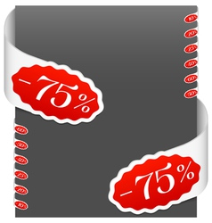 Left and right side signs discount percents vector