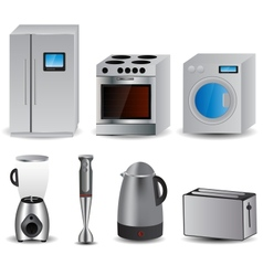 Set of of household appliances vector