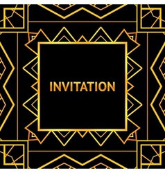 Art decor invitation card in vintage style vector