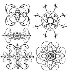 Ornament set 6 vector