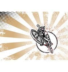 Biker poster vector