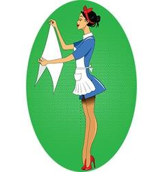 Cartoon maid icon vector