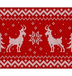 Red knit with goat seamless pattern tile vector