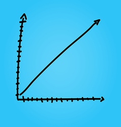 Hand draw arrow graph graphic eps10 vector