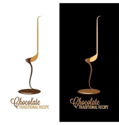 Chocolate wrapper design menu background vector