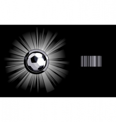 Shining soccer ball vector