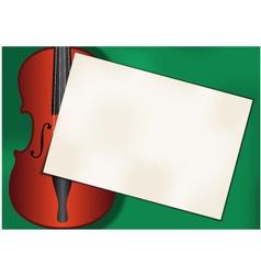 Violin background vector