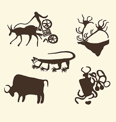 Prehistoric art vector
