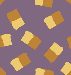 Bread seamless pattern food background vector