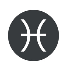 Monochrome round pisces icon vector