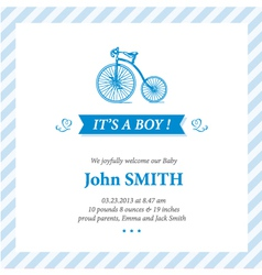 Baby announcement card it s boy vector