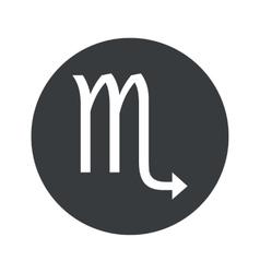 Monochrome round scorpio icon vector
