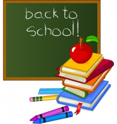 Back to school design elements vector
