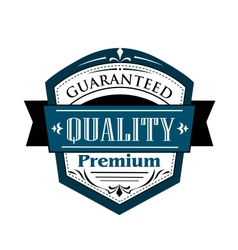 Premium guaranteed quality label design vector