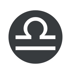 Monochrome round libra icon vector