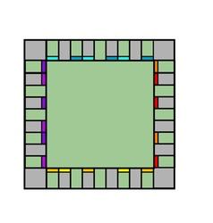 Empty monopoly board vector