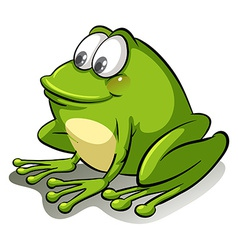 A frog going with the flow vector