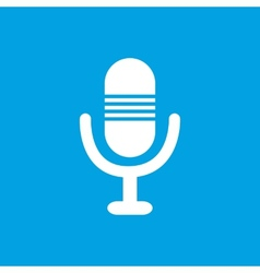Microphone white icon vector